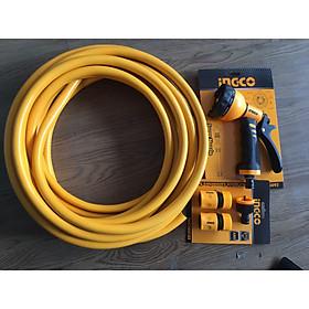 Bộ 5 mét ống nhựa PVC khớp nối vòi xịt rữa tưới cây 8 tia INGCO HPH200HPH2001 HWSG092 HHCS03122