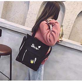 Túi Vải Tote Đeo Chéo Smile CHCTT02
