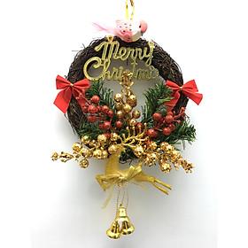 Vòng hoa Giáng Sinh đẹp đường kính 20cm - vòng nguyệt quế