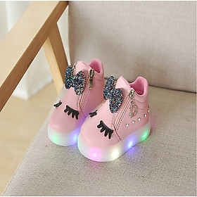 Giày thể thao mi thỏ có đèn led cho bé gái 1083 ( 1 - 5 tuổi)