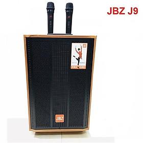 Loa kéo jbz j9 bass 30cm kem 2micro không dây - Hàng Nhập Khẩu