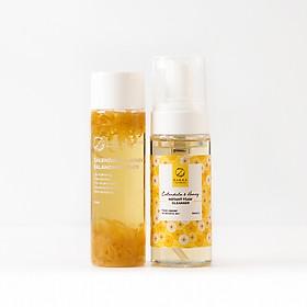 Bộ Đôi Hoa Cúc Zakka Naturals Calendula & Honey Làm Sạch Và Cấp Ẩm Dịu Nhẹ