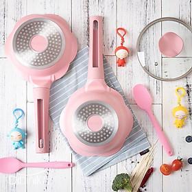 Bộ nồi chống dính và chảo chống dính - dùng để nấu đồ ăn cho bé