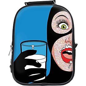 Balo In Hình Catwoman Uống Sữa BLFU065
