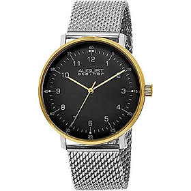 August Steiner Men's Classic Watch - Swiss Quartz Movement On Mesh Bracelet Watch - AS8091
