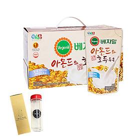 Lốc 20 túi Sữa đậu nành, hạnh nhân và óc chó Vegemil 190ml - Tặng 1 bình nước 500ml nhập khẩu Hàn Quốc