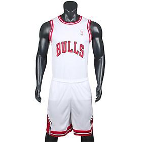 Bộ quần áo bóng rổ Bulls - Trắng