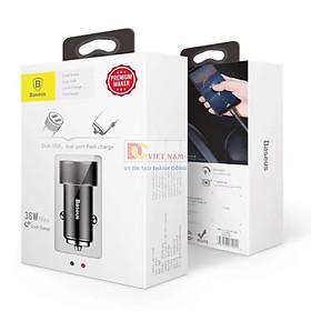Tẩu Sạc 2 Cổng USB 3.4A Baseus CAXLD -C01 - Hàng Chính Hãng