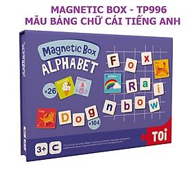 Bảng nam châm từ tính Thẻ học chữ cái tiếng Anh Magnetic Box Alphabet chính hãng TOI - TP996