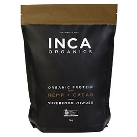 INCA Organics Organic Protein Hemp + Cacao Superfood Powder 1Kg Online Only