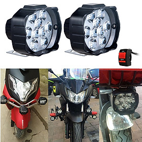 Universal Motorcycle Headlight Bright LED Lamps for Bicycles Cars Moto White
