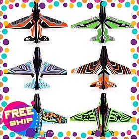 Combo 10 máy bay giấy trong bộ đồ chơi bắn máy bay lên trời