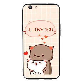 Ốp lưng viền TPU cho điện thoại Oppo F1S - I Love U
