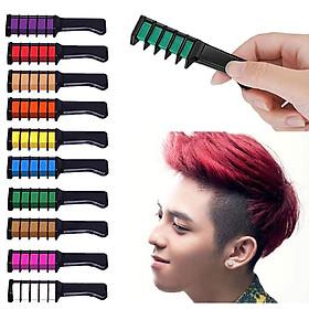 Bộ phấn nhuộm tóc tạm thời 10 màu cao cấp an toàn với tay cầm nhựa tiện dụng