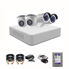Trọn Bộ Camera Hikvision 4 Mắt 2MP - FHD 1080P - Hàng chính hãng