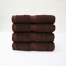 Combo 5  khăn quấn tóc, khăn mặt SPA Nam Phong - 34x80 cm - màu nâu socola