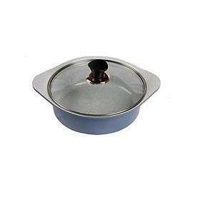 Nồi đúc ceramic cao cấp 2 tay cầm 22cm, dùng được bếp từ