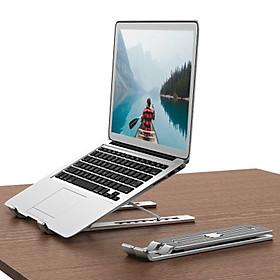 Đế nhôm cao cấp hỗ trợ tản nhiệt cho Laptop, Macbook gồm 7 mức điều chỉnh độ nghiêng tùy ý (có thể gập gọn thông minh)- Hàng chính hãng