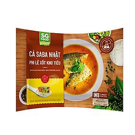 [Chỉ Giao HCM] - Cá Saba Nhật Phi Lê Xốt Kho Tiêu Sài Gòn Food Gói 240g
