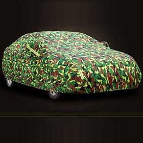 Bạt xe hơi màu lính,áo, bạt trùm xe hơi, xe ôtô 4 chỗ đến 7 chỗ, lớp bạc phản quang chống nóng, mưa, xước sơn, vải dù Polyester Oxford Fabric cao cấp không dễ rách -BPXML
