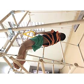 Khung vận động, xà đu đa năng hình thang cho bé WOOD ACTIVE3