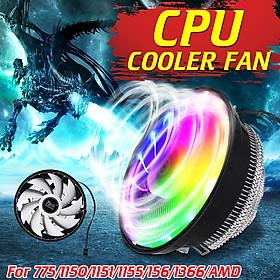 Silent CPU Cooler Fan Heat Sink For Intel 775/1150/1151/1155/1156/1366 AMD PC