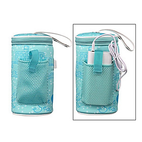Mummy Nursing Feeding Bottle Warmer USB Heating Baby Bottle Bag Tote Pouch