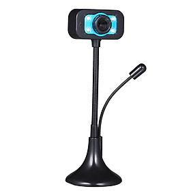 USB Webcam Desktop Computer PC Video with Microphone Flexible Hose 4 L-ED Night V-ision Camera