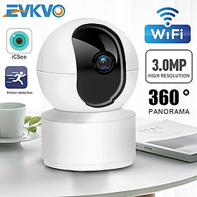 EVKVO - ICSEE APP FHD 3MP Có thể xoay Wireless PTZ IP Canera CCTV WIFI Smart AI Security Surveillance Camera CCTV Baby Monitor Infrared Night Vision Motion Detectio