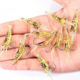 Bộ 5 mồi câu cá giả hình tôm có kèm lưỡi câu - Màu ngẫu nhiên