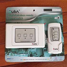 Bộ Công tắc điều khiển từ xa 3 thiết bị Oulia digital wireless remote control switch
