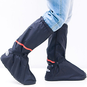 Rain-proof Shoe Cover Men Thick Sole Waterproof Resuable Cycling Bike Rain Boot Shoes Cover Oil Dust Proof With Relectors