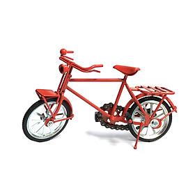 Mô Hình Xe Đạp Sắt - Xe đạp Nhật - Màu Đỏ