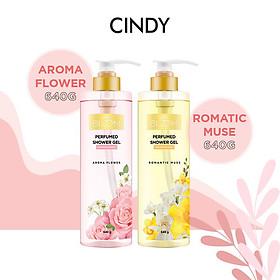 Combo sữa tắm nước hoa Cindy Bloom Aroma Flower 640g + Romantic Muse 640g