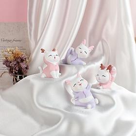 Mô hình tượng trang trí 4 chú Mèo Tập Yoga