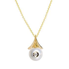 Dây Chuyền Galatea Jewelry Diamond In A Pearl 902.04YW - Trắng