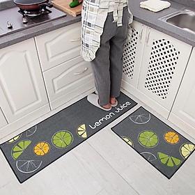 Bộ 2 thảm nhà bếp siêu dày dặn 40x60cm và 40x120cm tặng kèm dụng cụ rửa bát lót nồi silicol tiện lợi. Shop giao mầu  ngẫu  nhiên