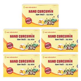 Bộ 5 Hộp Thực Phẩm Chức Năng Nanocurcumin Tam Thất Xạ Đen Học Viện Quân Y (30 Viên / Hộp)