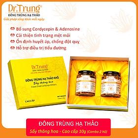 Đông trùng hạ thảo DR. TRUNG (Sợi Khô - Sấy thăng hoa) Combo 02 hũ 10 Gram - Loại CAO CẤP - (Cordycepin & Adenosine cao giúp tăng đề kháng mạnh, ngủ ngon, giảm mệt mỏi, giảm nguy cơ đột quỵ)
