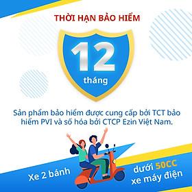 [E-Voucher] Bảo Hiểm Bắt Buộc Trách Nhiệm Dân Sự EZIN- Xe Mô Tô 2 Bánh Dưới 50cc - Gói 12 tháng