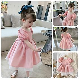 VT34Size90-140 (12-30kg)Váy đầm xoè bé gái - Kiểu dáng công chúaThời trang trẻ Em hàng quảng châu