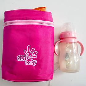Túi giữ nhiệt cho bình sữa Sunbaby- Đôi S12 loại tiết kiệm