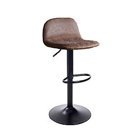 Ghế quầy bar tăng giảm chiều cao bọc giả da chân sắt