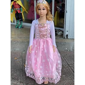 Váy Bé Gái Elsa Màu Hồng - HM039H