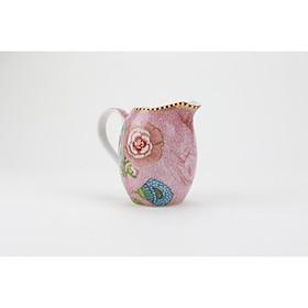 Ly sứ mini hoa văn hồng đựng sữa, gia vị bàn ăn