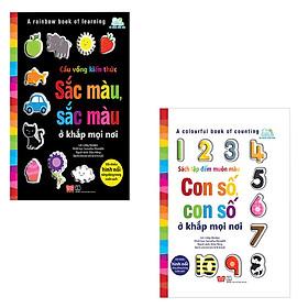 Combo A Rainbow Book Of Learning - Cầu Vồng Kiến Thức - Sắc Màu, Sắc Màu Ở Khắp Mọi Nơi + A Colourful Book Of Counting - Sách Tập Đếm Muôn Màu - Con Số, Con Số Ở Khắp Mọi Nơi