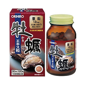 Thực phẩm bảo vệ sức khỏe Tinh chất Hàu tươi Orihiro Nhật Bản 120 viên bồi bổ sinh lực nam giới