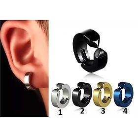 Bộ 2 bông tai Titan kẹp vành không cần bấm lỗ xỏ lỗ
