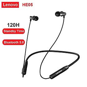 Lenovo He05 Wireless Neckband Earphone Bluetooth 5.0 Stereo Sports Magnetic Ipx5 Waterproof Headset