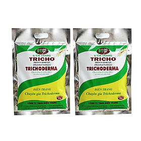 Combo 2 gói phân bón vi sinh vật Trichoderma 1kg dạng ủ compost (nấm đối kháng Trichoderma, Bacillus subtilis) phòng ngừa nấm bệnh hại cho hoa lan, hoa hồng - Microbial fertilzer